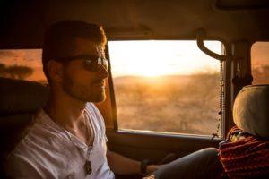 passenger in car